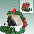 GGBD13A Schnauzer, Black Green Gift Box Ornament