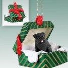 GGBD18B Pug, Black Green Gift Box Ornament