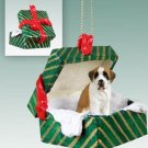 GGBD44 Saint Bernard, Smooth Coat Green Gift Box Ornament