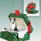 GGBD65B Pit Bull Terrier, Brindle Green Gift Box Ornament
