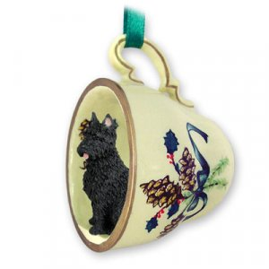 GTCD107 Bouvier Green Holiday Tea Cup Ornament