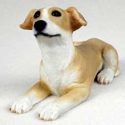 PDF54D Greyhound Tan & White Puppy Figurine