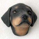 PDM101A Doberman Black Uncropped Puppy Magnet