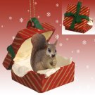 RGBA30A Squirrel, Red, Red Gift Box Ornament