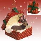 RGBA33 Elk, Bull Red Gift Box Ornament