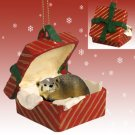 RGBA35 Badger Red Gift Box Ornament