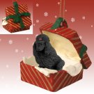 RGBD01D Poodle, Black Red Gift Box Ornament