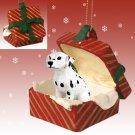RGBD02 Dalmatian Red Gift Box Ornament