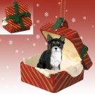 RGBD06A Chihuahua, Black & White Red Gift Box Ornament