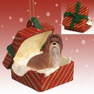 RGBD26B Shih Tzu, Tan Red Gift Box Ornament