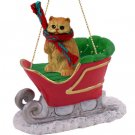 SLC09 Persian Red Sleigh Ride Ornament