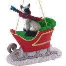 SLC18 Siamese Sleigh Ride Ornament