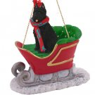 SLD107 Bouvier Sleigh Ride Ornament
