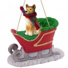 SLD117 Finnish Spitz Sleigh Ride Ornament