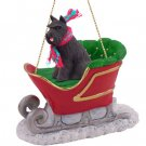 SLD13A Schnauzer, Black Sleigh Ride Ornament