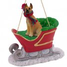 SLD16B Great Dane, Fawn Sleigh Ride Ornament