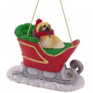 SLD36 Pekingese Sleigh Ride Ornament