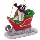 SLD44 Saint Bernard, Smooth Coat Sleigh Ride Ornament