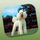 WCFP104A Poodle White Sport Cut Mouse Pad