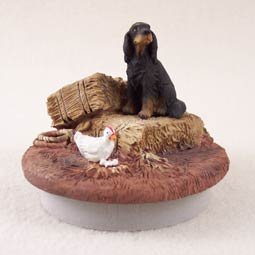 "DTTC66 Gordon Setter  Tiny One Candle Topper """"A Day on the Farm"""""