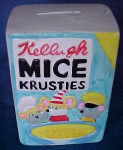 Vintage 1972 Wacky Packages Compo Bank Mice Krusties VG