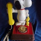 Vintage 1976 Peanuts Snoopy Woodstock Telephone-Works