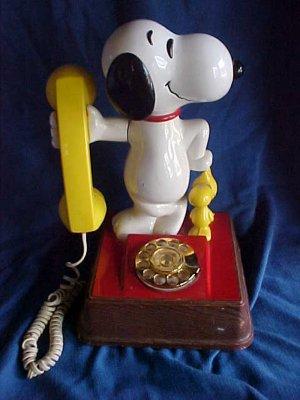 Vintage 1976 Peanuts Snoopy Woodstock Telephone-Works