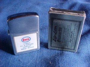 Vintage ENCO HUMBLE Gasoline Lighter w/Box Billings MT