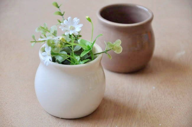 Mini Porcelain Plant Pot