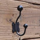 Black Iron Wall Mount Hat and Coat Hook - ON SALE