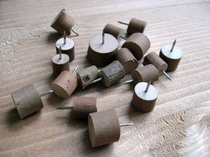 Wooden Head Thumbtack Push Pins (10 pieces/set)