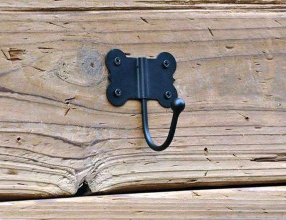 Black Wall Hooks - Black Iron Wall Hooks - On SALE