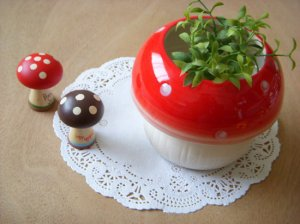 Ceramic Mushroom Plant Pot