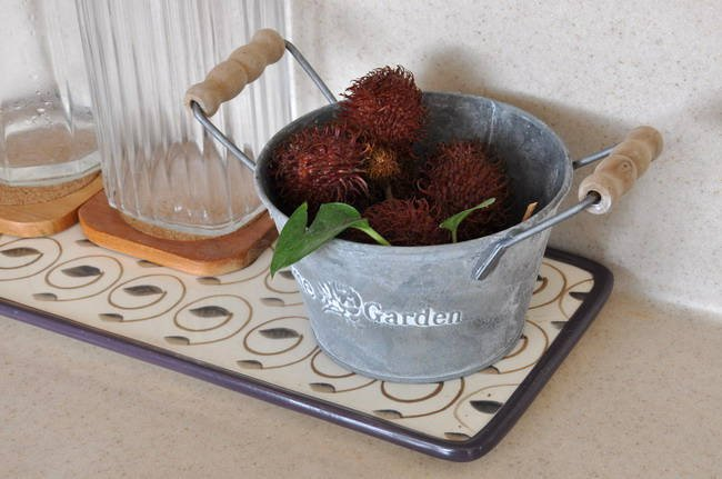 Two handle Galvanized Basket