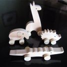 Wooden Animals on Wheels (set of 4)(on Sale)