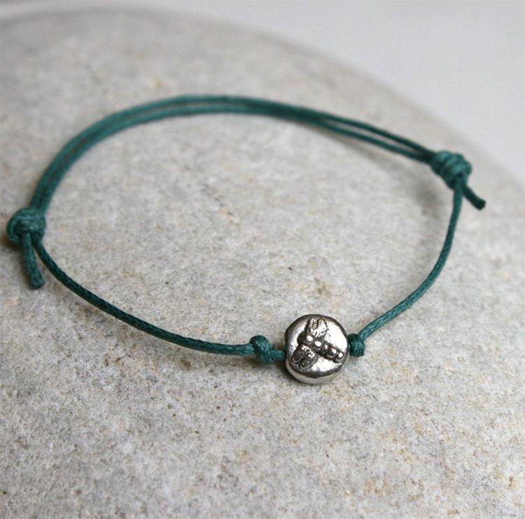 Dragonfly bracelet / Dragonfly Anklet (many colors to choose)