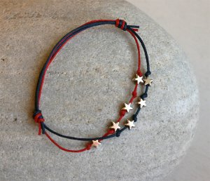 July 4th Stars Bracelet (many colors to choose)