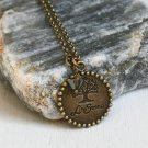 Tree of Life Necklace – Antique Brass