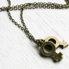 You and me Necklace, Antique Brass Sex Symbols Necklace (male & female, 2 males, 2 females)