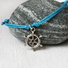 Sailing Wheel Bracelet or Sailing Wheel Anklet (many colors to choose)