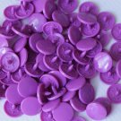 KAM Plastic Snaps 100 sets - Bright Purple (Overstock sale)