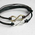 Infinity Bracelet - Bigger charm - good for man (many colors)