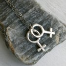 You and me Necklace - Lesbian Pride Necklace - sex symbol necklace