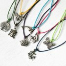 Charm Necklace / Tree Necklace / Peace Necklace / Bird Necklace (many charms to choose)