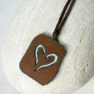 Rusted Iron Heart Necklace