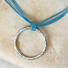 Large Karma Circle Necklace with Triple Cords (many cord colors to choose)