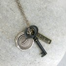 Key Street Tag Initial Necklace