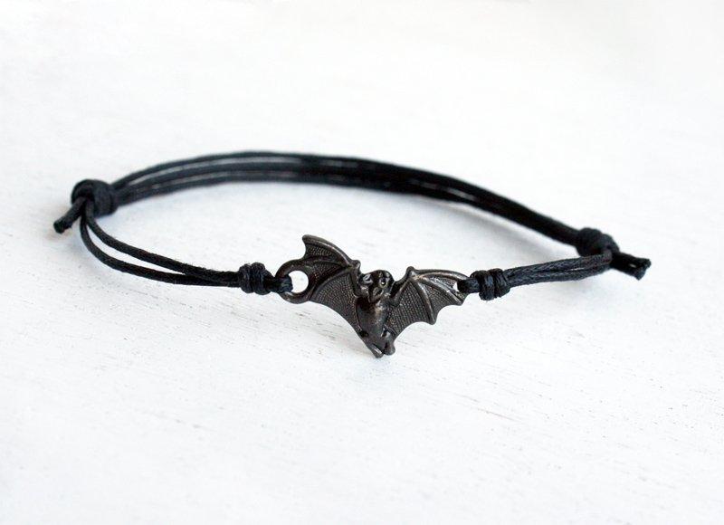 Bat Bracelet / Bat Anklet (many cord color to choose)