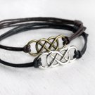 Double Infinity Bracelet (many colors to choose)
