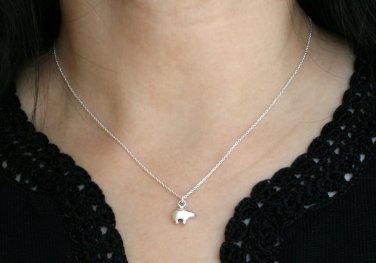 Sterling Silver Tiny Bear Necklace